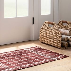 Scatter Check Woven Accent Rug